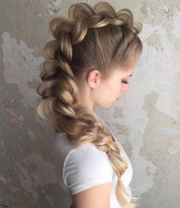 dragon tail braid