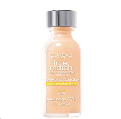 L'Oréal Paris Makeup True Match Super-Blendable Foundation Makeup, light to medium buildable coverage, matches skin tone and texture